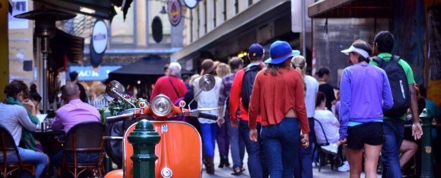 Bustling City Street