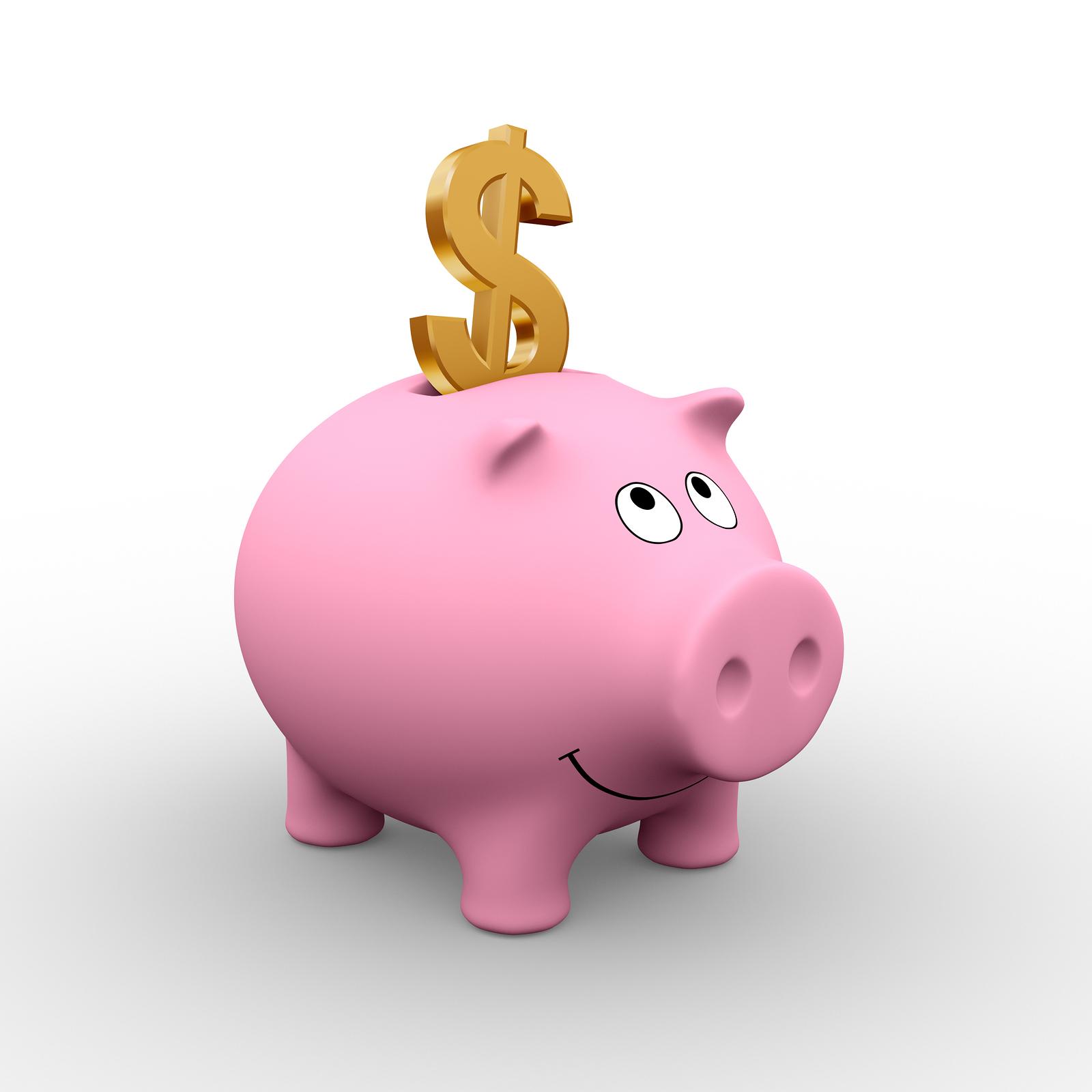 Saving for a house piggy bank