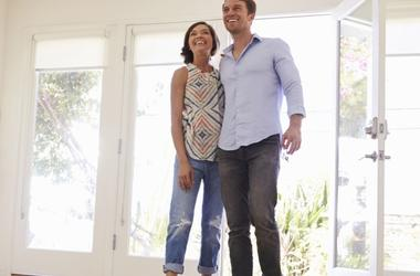 Couple buying a new property