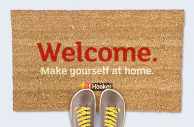 LJ Hooker Open Home Welcome Mat