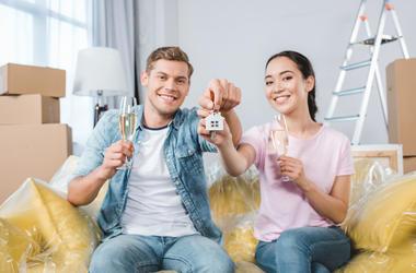 Celebrating house purchase